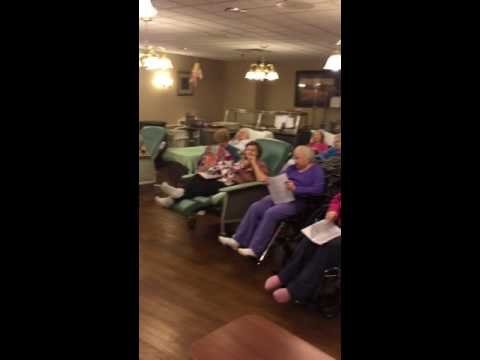 Singing at assisted living facility in oak ridge Tennessee