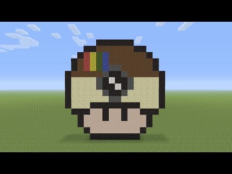 Minecraft Pixel Art Instagram Mushroom