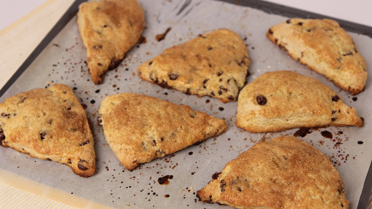 Chocolate Chip Scones Recipe - Laura Vitale - Laura in the Kitchen Episode 462