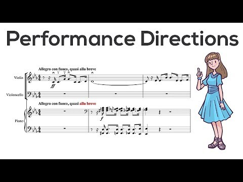 Performance Directions in Sheet Music  Music Theory