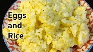 Breakfast Recipes Eggs And Rice Recipe Youtube