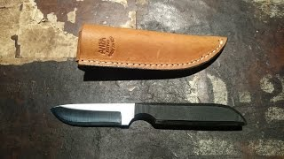 "Tabletop review/overview of the Anza SP3M Fixed Blade. 7 1/2"" overa..."