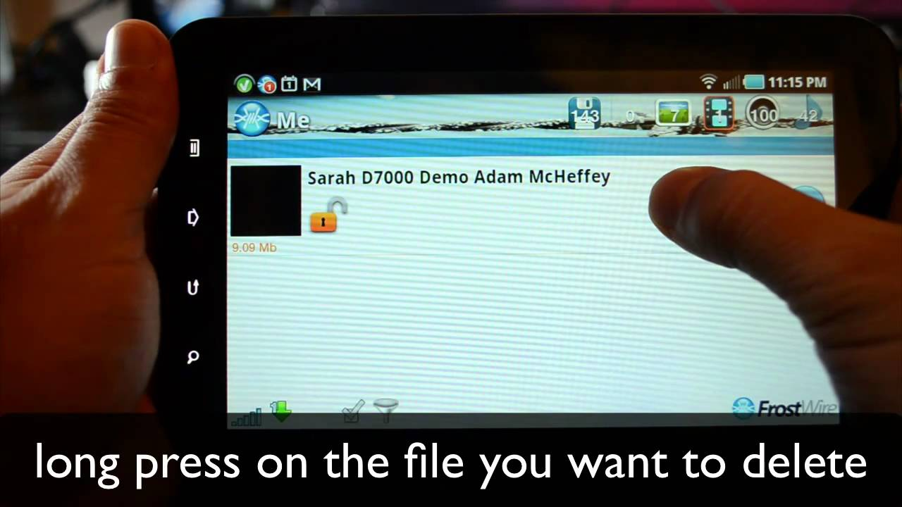 FrostWire for Android - How to Delete a File