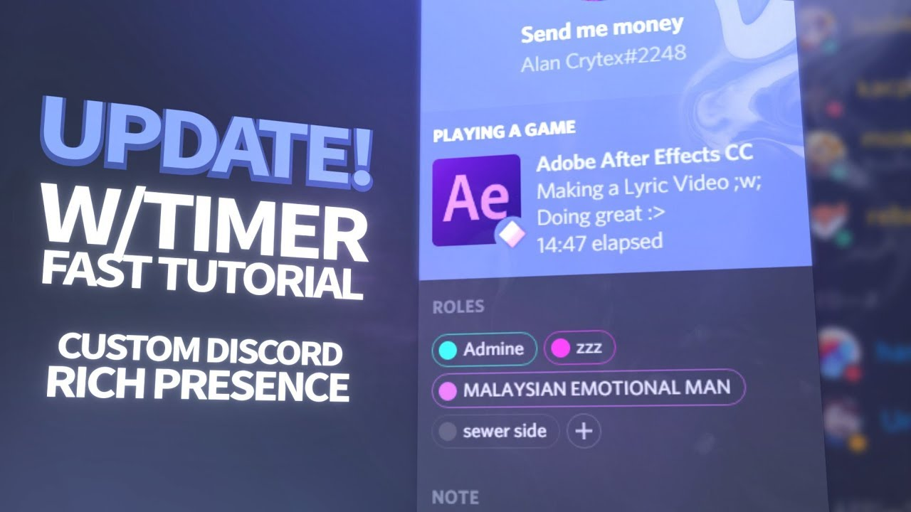 How To Get A Custom Discord Rich Presence (w/ Timer) September Update