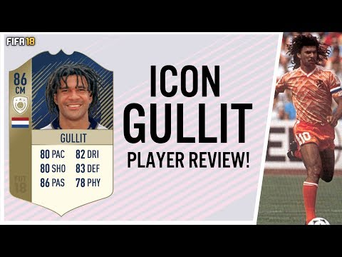 FIFA 18 ICON RUUD GULLIT 86 PLAYER REVIEW! | FIFA 18 ULTIMATE TEAM