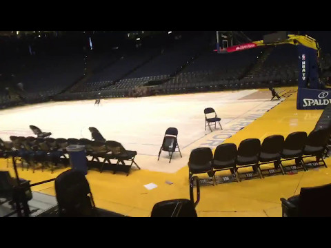 (Unedited) Behind-The-Scenes Media Tour of Oracle Arena, Press Row, Warriors (1-0) vs Spurs, WCF G1