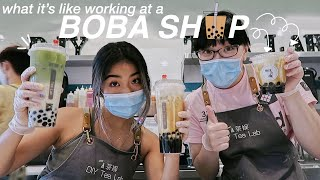 a day in the life of a bobarista!!
