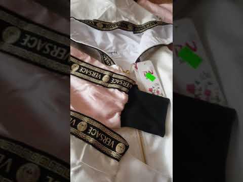 Áo Khoác Lửng Dù, Nhũ Viền Versace Siêu đẹp