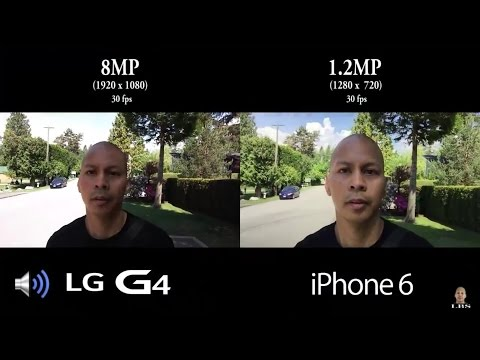 Front Facing Camera Video Battle - LG G4 vs iPhone 6