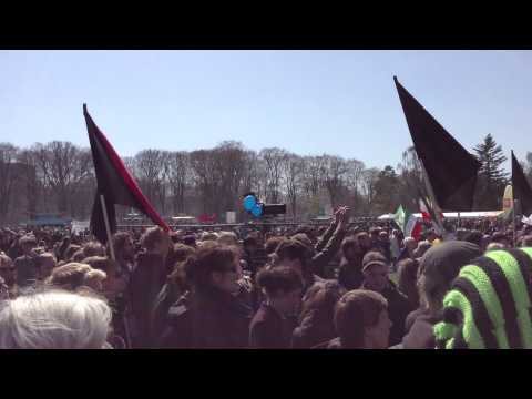 """""""Helle er blå"""" - May 1 - Labor Day Manifestation in Copenhagen, Denmark"""