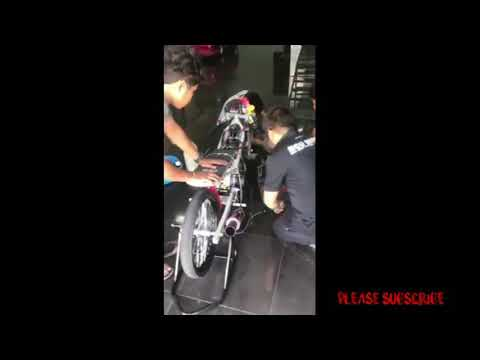 Suara Gahar Yamaha Vixion 500cc || Drag Bike Thailand