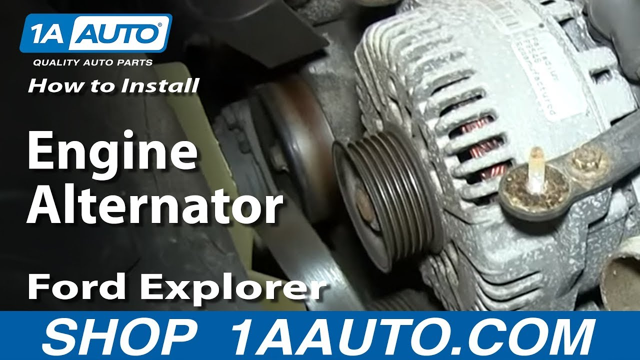 medium resolution of how to install replace engine alternator 4 6l v8 2002 10 ford explorer mercury mountaineer youtube