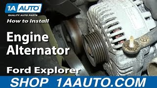 how to install replace engine alternator 4 6l v8 2002 10 ford explorer mercury mountaineer