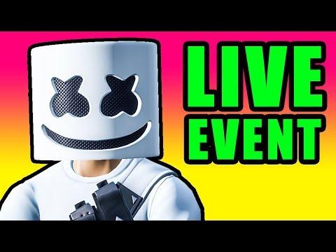 Fortnite Marshmello Live Event! 🔴 Marshmello Concert in Pleasant Park