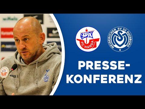 Pressekonferenz nach Hansa Rostock  | #FCHMSV | ZebraTV | 19.09.2020