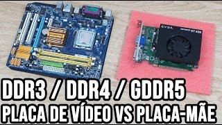 Placa de vídeo DDR3 ou GDDR5 em placa-mãe DDR2 ou DDR4