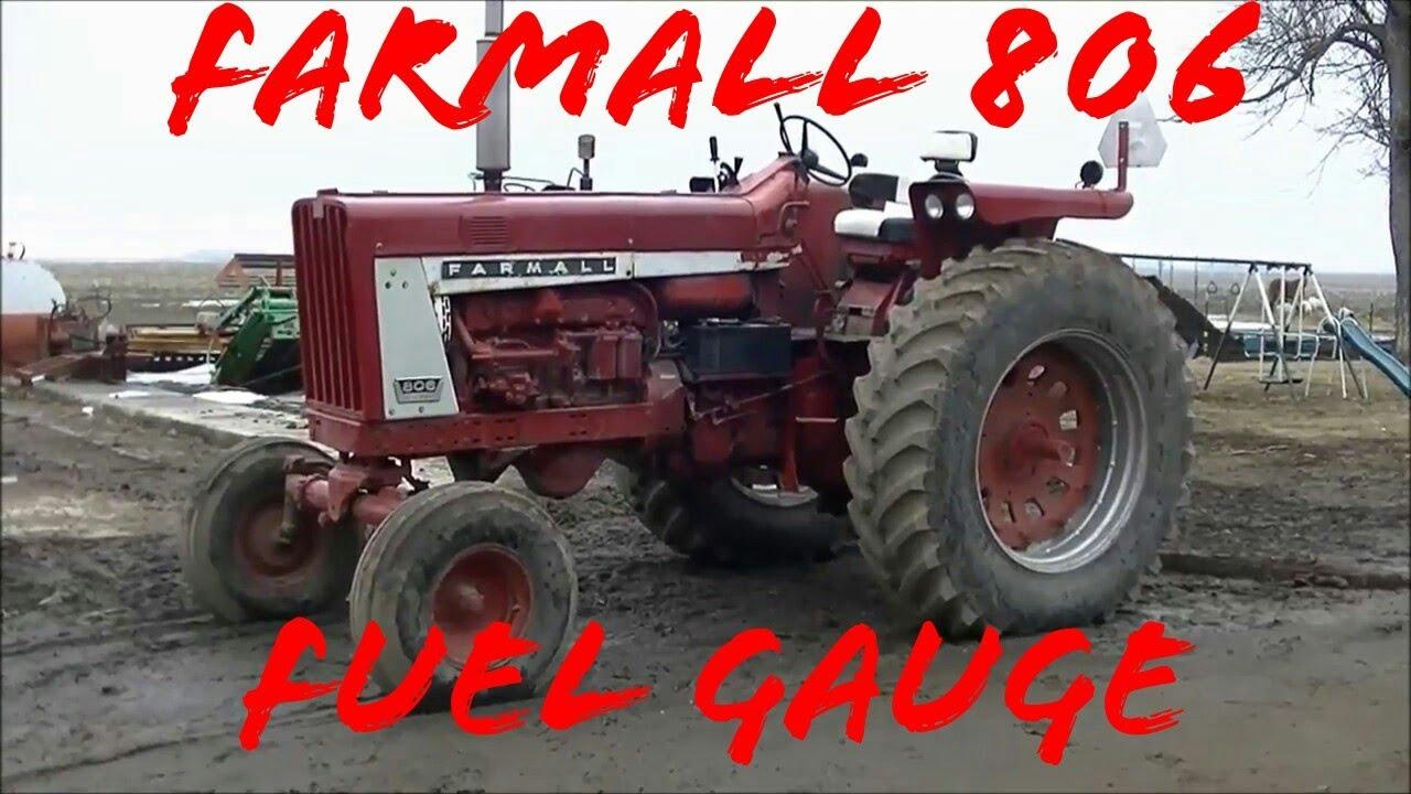 farmall 806 fuel gauge sender float repair