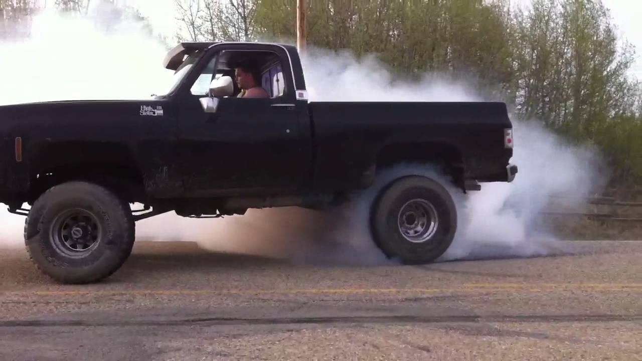 Chevy 79 Lifted Burnout Youtube
