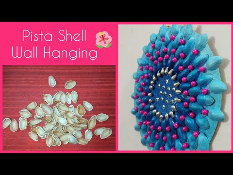 Diy Pista Shell Wall Hanging/ Best out of waste craft ideas/ Diy Pista Shell Crafts