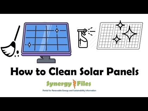 Methods for Cleaning Solar Panels