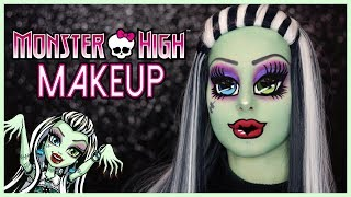 JE DEVIENS UNE MONSTER HIGH 💀💚 | Frankie Stein Makeup
