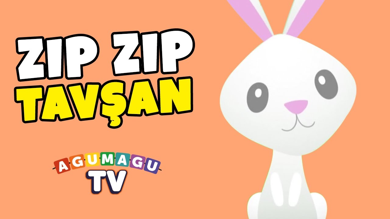 Zıp Zıp Tavşan Koş Koş Tavşan Ben Beyaz Bir Tavşanım çocuk şarkısı