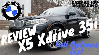 2018 BMW X5 XDRIVE 35i FULL REVIEW AND OPTIONS ! TRUE SPORT UTILITY VEHICLE !