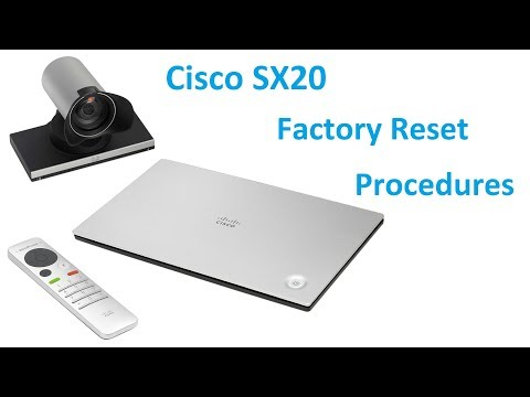Cisco SX20 Factory Reset Procedures - YouTube
