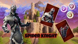 Fortnite Spider Knight Skin Showcased with 30+ Backblings