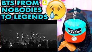 BTS // FROM NOBODIES TO LEGENDS 2013- DEC 2017 | REACTION!!!