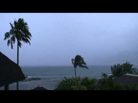 Tropical Rain in Seychelles Africa
