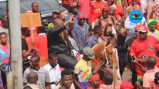 Ayariga storms US Military deal demonstration on horse back