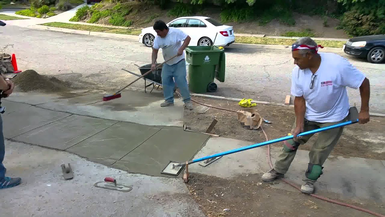 Cutting a straight line of concrete expansion joint tied