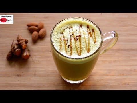 Dairy Free Turmeric Milk Recipe For Thyroid PCOS Weight Loss Vegan Golden Milk Recipe -Haldi Doodh
