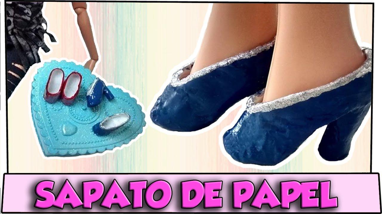 Como Fazer Sapato De Salto Com Papel Para Barbie Monster High