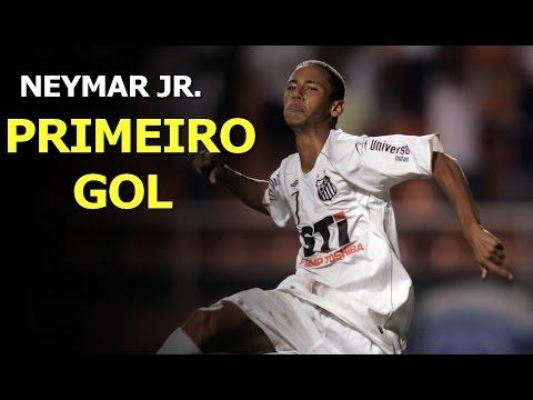 Primeiro gol da carreira de Neymar - First career goal
