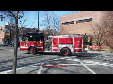 Chicago Fire Department Engine Co 108 Responding