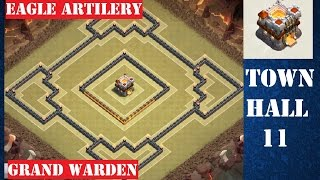 Town Hall 11 War Base Trophy Base - December Update - Clash of Clans (Grand Warden + Eagle Artilery)