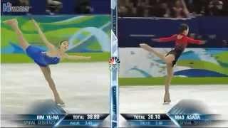 Yuna KIM Mao ASADA 2010 Olympics FS
