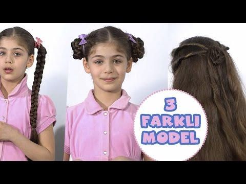 3 Kolay Saç Modeli | Annem Saçlarımı Yapıyor | Uzun Saç Modelleri