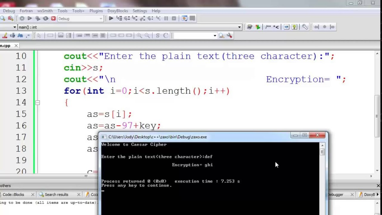 Caesar Cipher in C and C++ [Encryption & Decryption]