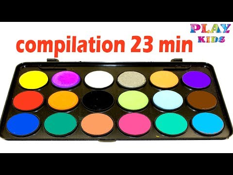 Learn colors with watercolor Learn Alphabet with watercolor paints Learn to count with Body Paint