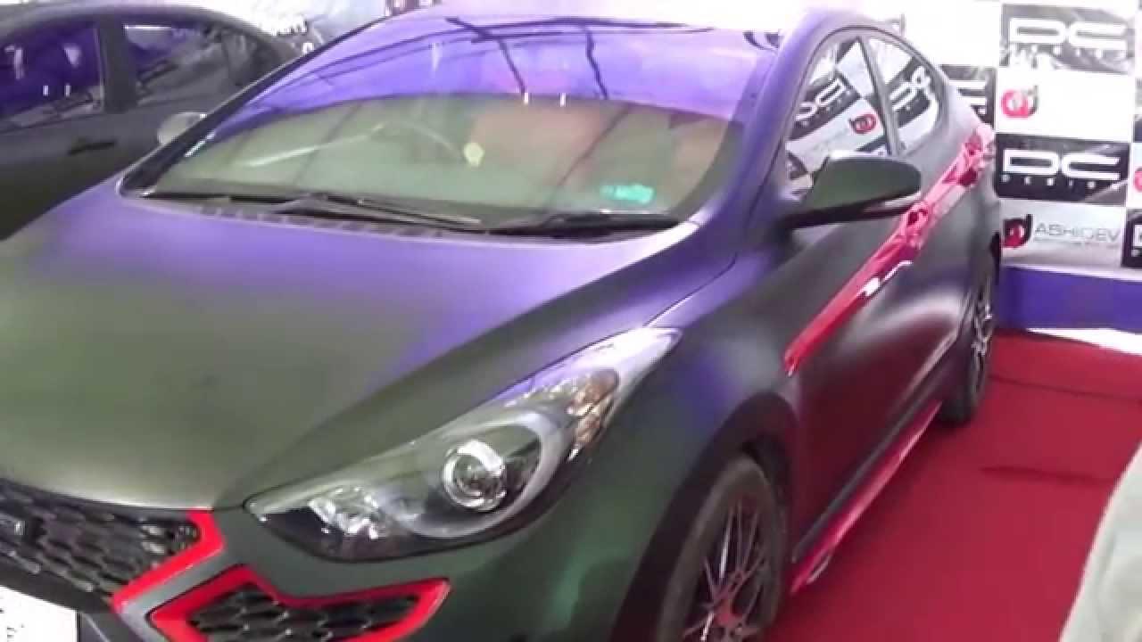Red 2017 Hyundai Elantra >> Hyundai Elantra DC Design - Auto Show 2015 Rajkot india - YouTube