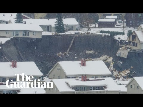 Several missing after landslide hits Norwegian town