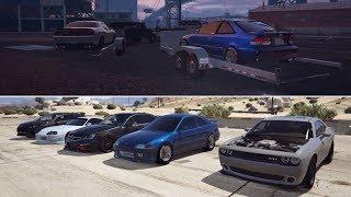GTA 5 FiveM PSRP | Race Night #2 - 800+HP H22 Turbo EK/EG Civic vs Hellcat, Supra, Subie, & More!