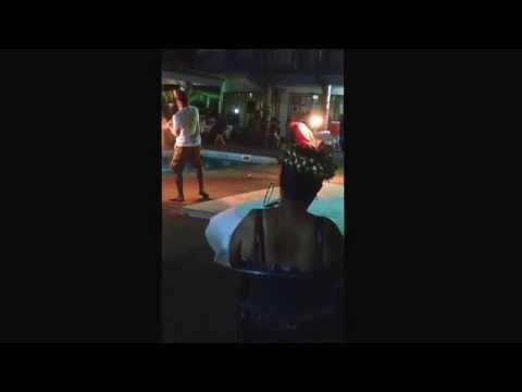 Queens Baton Dinner at Meneng Hotel - Nauru /Fire Dance : Tipung Kamtaura & Wilson Tusi