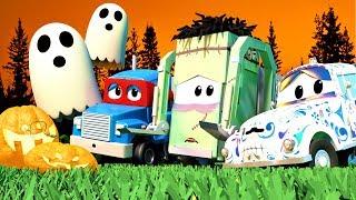 Çocuklar için 1 saatlik kamyonlu cadılar bayramı Çizgi film derlemesi perili araba Şehri