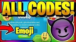 *ALL* SECRET OP WORKING CODES! Roblox Emoji Simulator