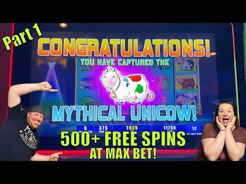 UNICOW BONUS!! 500+ FREE SPINS AT MAX BET!!  PLANET MOOLAH Bonus Pt 1 #unicow #maxbet