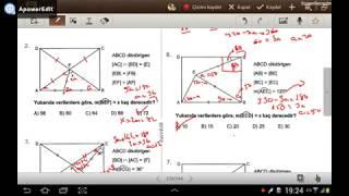 DİKDÖRTGEN 1 ( Karekök LYS Geometri Soru Bankası) (test 1-2-3)